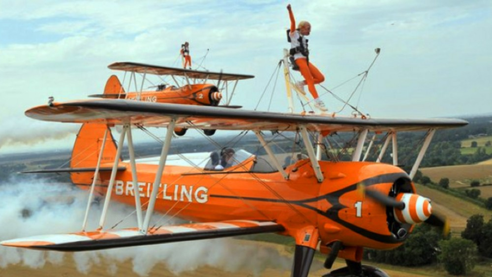 Rose Powell, flame brewer, worlds youngest wingwalkers, wing walking, biplane, breitling