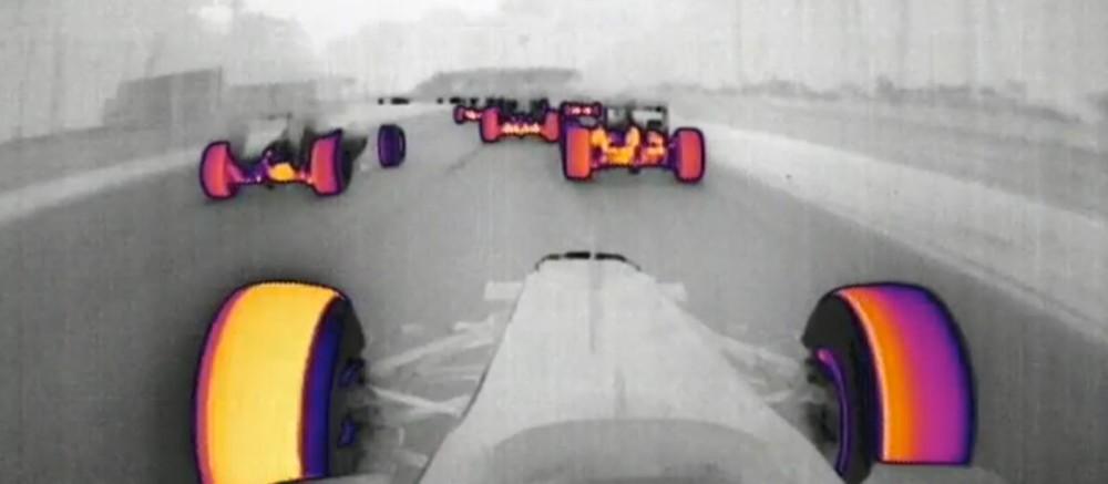 f1, formula 1, thermal imaging, f1 thermal imaging, f1 technology, racing car thermal image