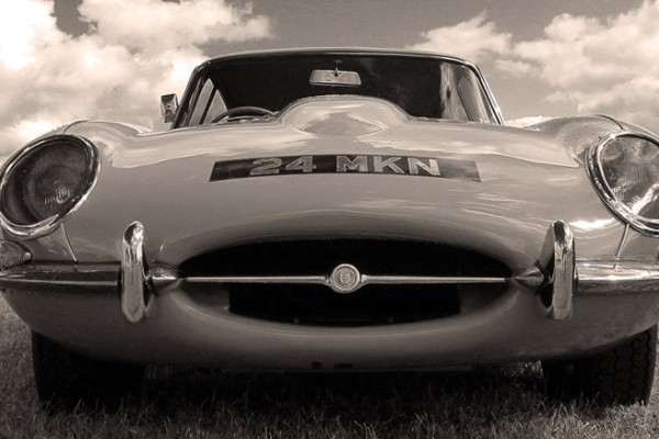 goodwood revival historic motorsport and aviation event sepia image, classic car