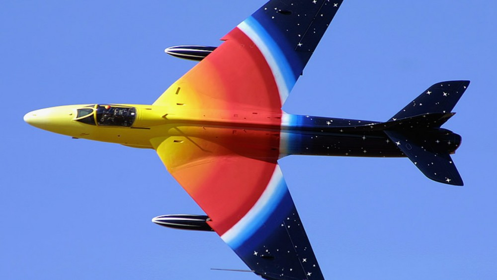 miss demeanour, hawker hunter, customised airplane livery