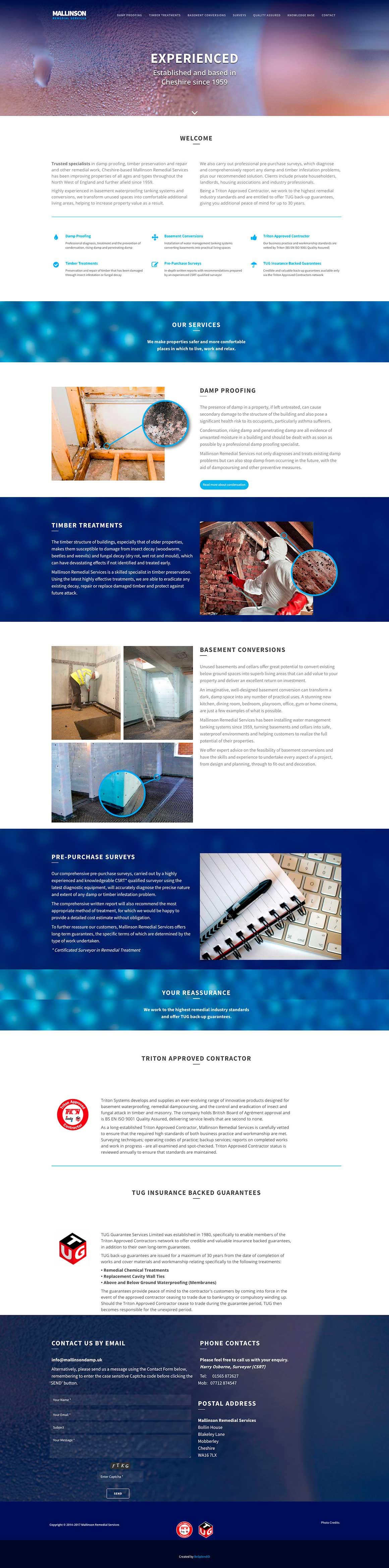 Mallinson Damp Site Homepage